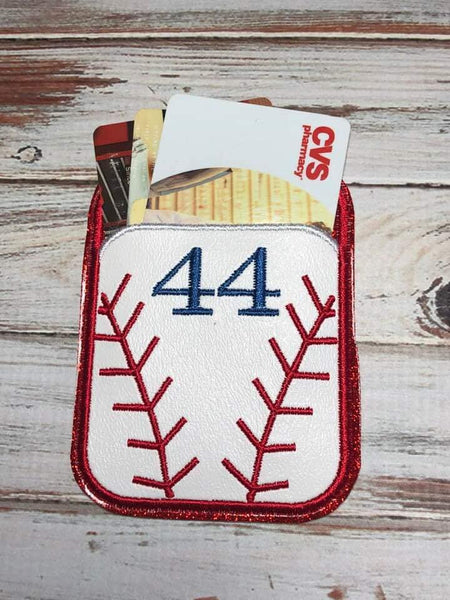 Credit Card Holder Baseball/Softball - 2 Finishes