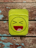 Credit Card Holder Excited Smiley Face - 2 Finishes