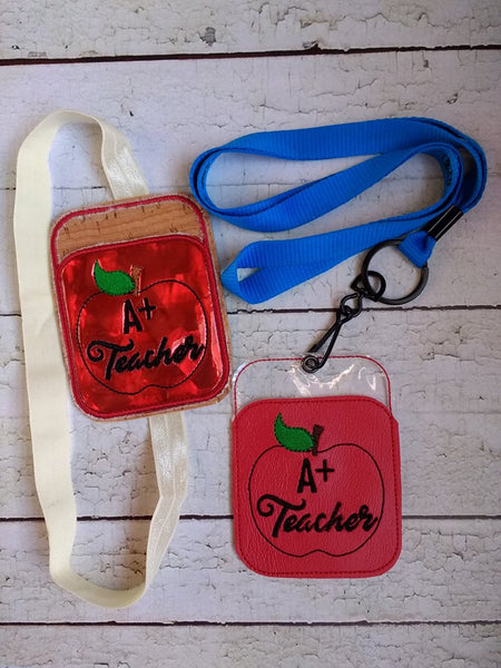 Credit Card Holder A+ Teacher - 2 Finishes