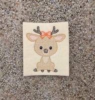 Woodland Animal Deer Sketch - GIRL - 3 Sizes