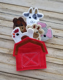 Old MacDonald Barn Finger Puppet Holder - HOLDER ONLY - 3 Sizes