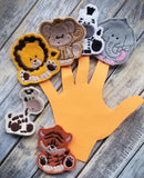 Jungle Animal Finger Puppet Set -  Animals - 4x4 and 5x7 Grouped