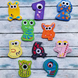 Monster Number Finger Puppet Set - 10 Designs Included