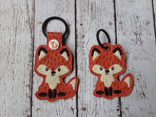 Woodland Fox Key Fob - 2 Styles