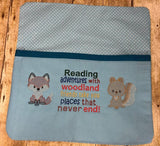 Woodland Animal Reading Adventure Saying - 2 Sizes