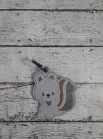 Woodland Squirrel Key Fob - 2 Styles