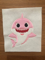 Mommy Shark Applique - ONLY - 3 Sizes