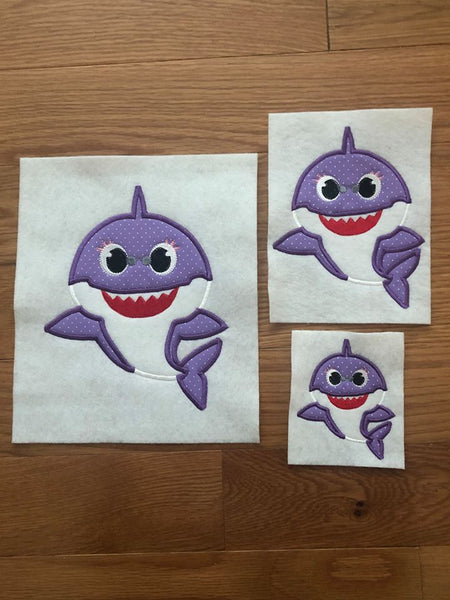 Grandma Shark Applique - ONLY - 3 Sizes
