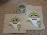 Grandpa Shark Applique - ONLY - 3 Sizes