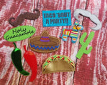 Taco 'Bout A Party Photo Booth Prop SET 5x7 ONLY