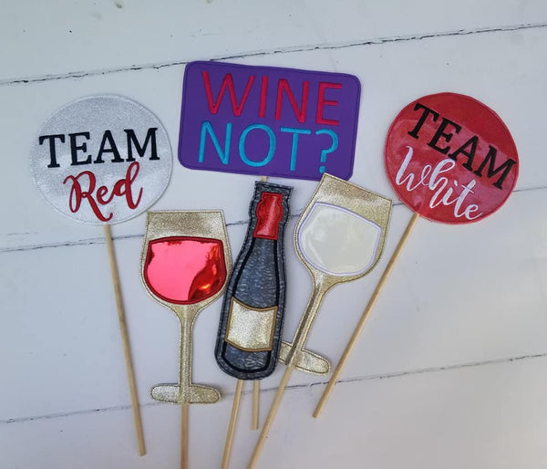 Wine Photo Booth Prop SET - 5x7 ONLY