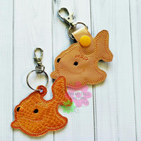 Sea Creature Gold Fish Fob - 2 Styles