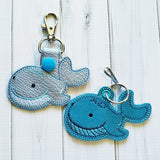 Sea Creature SET of 6 Fobs - 2 Styles