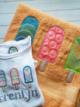 Popsicle Trio Applique - 5 Sizes