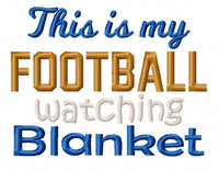 Football Watching Blanket 5 Sizes