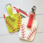 Credit Card Holder Fob - Baseball/Softball