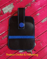 Credit Card Holder Fob - Thin Blue Line