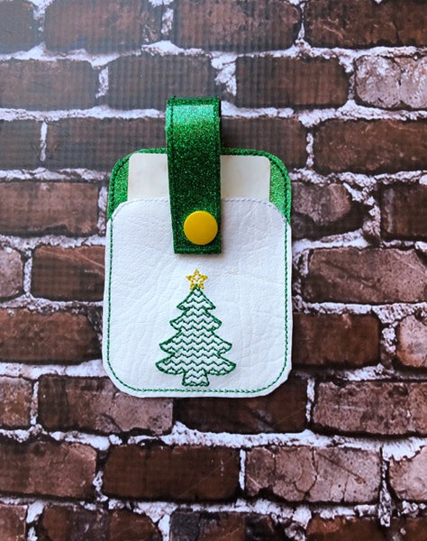 Christmas Tree Credit Card Holder Fob