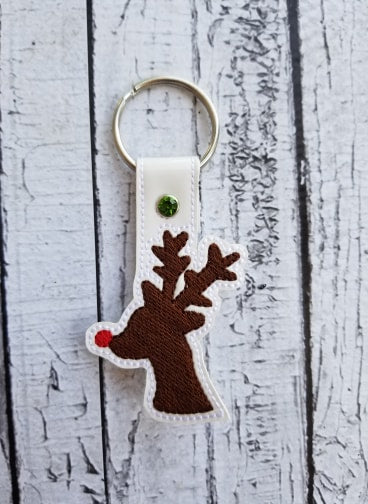Red Nose Reindeer SET - Snap Tab, Eyelet, Bottle Holder