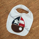 Flag Sailboat Applique - 5 Sizes