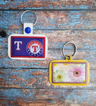 "Blank Key Fob Applique 2.5""x1.5"" - 2 Styles"