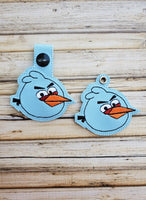 Mad Blue Bird Key Fob - 2 Styles