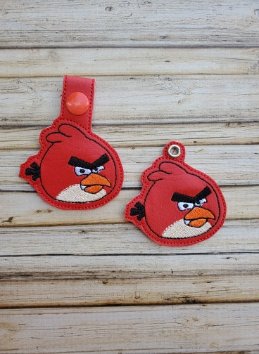 Mad Red Boy Bird Key Fob - 2 Styles