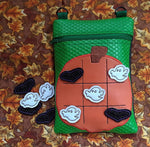 Pumpkin Tic Tac Toe Zip bag and Game Pieces