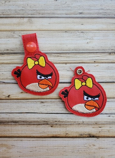 Mad Red Girl Bird Key Fob - 2 Styles