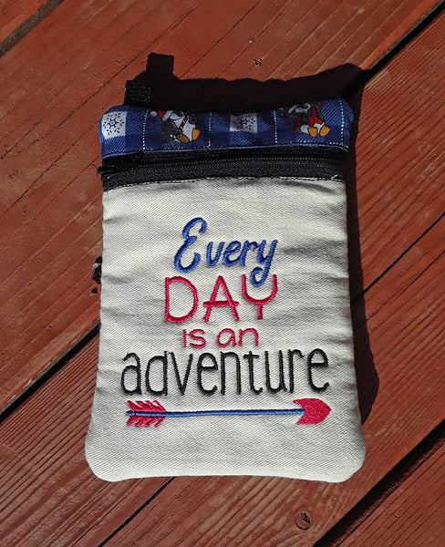 Every Day is an Adventure Zip Bag
