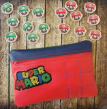 Super Brothers Tic Tac Toe Zip Bag and Game Pieces