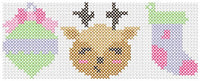 Ornament, Deer, Stocking Cross Stitch