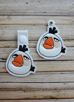 Mad White Bird Key Fob - 2 Styles