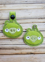 Mad Green Pig Key Fob - 2 Styles