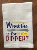 What the fork is for dinner wording