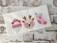Ornament, Deer, Stocking Trio Sketch