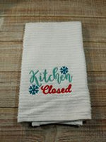 Monthly Open/Closed Kitchen Towel Set of 12