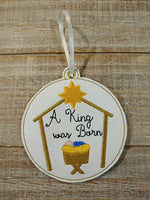 A King Was Born Sketch Ornament