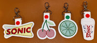 Cherry and Lime Key Fob Set