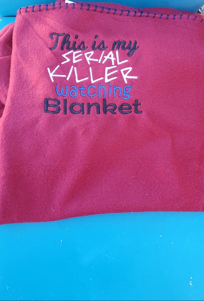Serial Killer Watching Blanket 8x8 ONLY