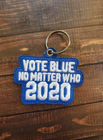 Vote Blue Key Fob