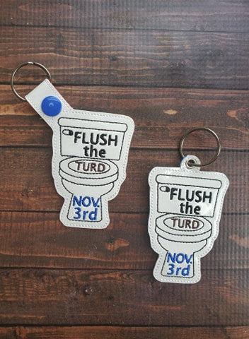 Flush the Turd Key Fob