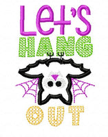 Let's Hang Bat Applique