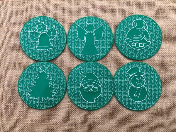 Christmas Coaster Set of 6