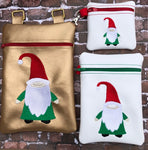 Christmas Gnome Zip Bag