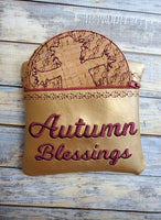 Autumn Blessings Coaster set of 6 and Holder