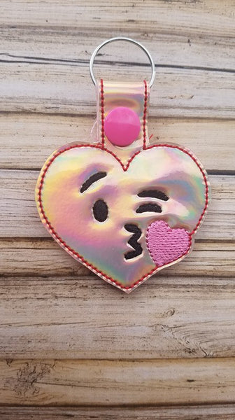 Emoji Heart Kiss Key Fob - 2 styles