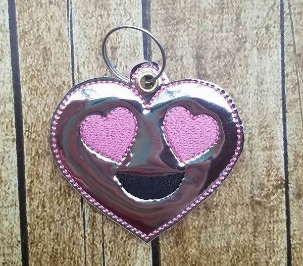 Emoji Heart Heart Eyes Key Fob -2 styles