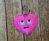 Emoji Heart Eye Roll Key Fob - 2 styles