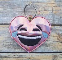 Emoji Heart Laughing Key Fob - 2 styles